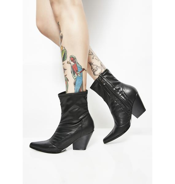 Dark Kick It Up Pointed Boots