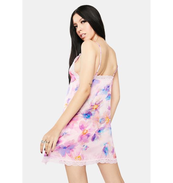 Frankies Bikinis Riley Lace Silk Dress