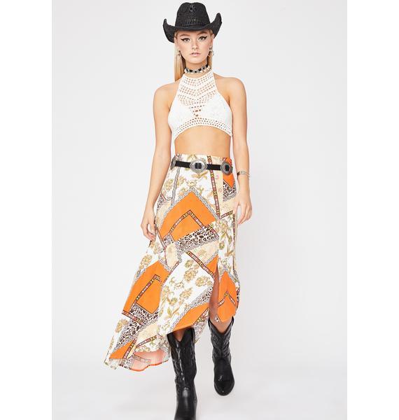 Desert Diva Midi Skirt