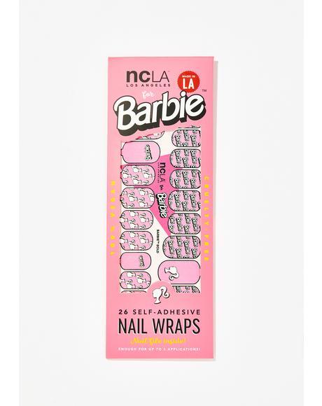Barbie Bold Nail Wraps