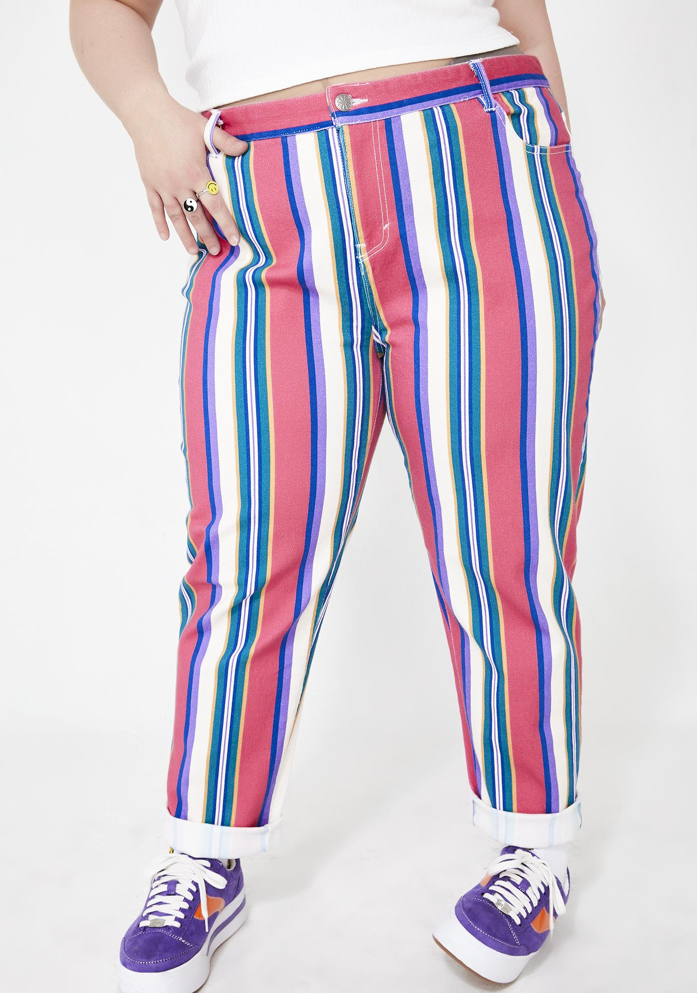 317b5512511a dELiA s by Dolls Kill Pumpin  Up The Jam Striped Jeans