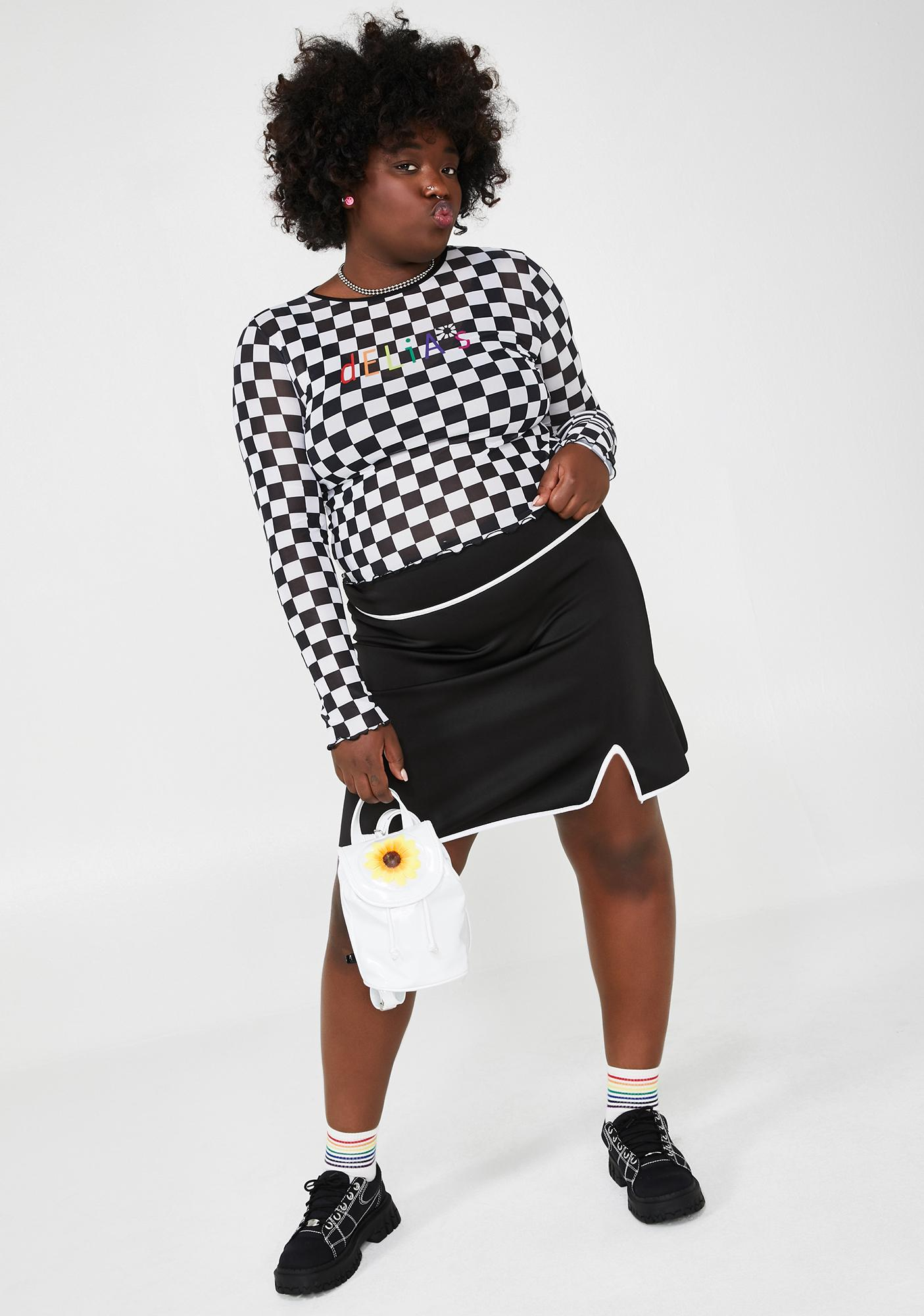 dELiA*s by Dolls Kill Sassy Miss Thing Mini Skirt