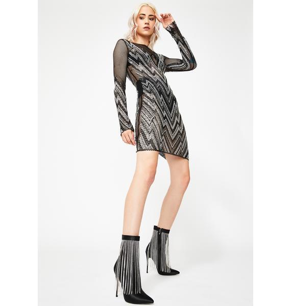 Kiki Riki Staggered Glamour Rhinestone Dress