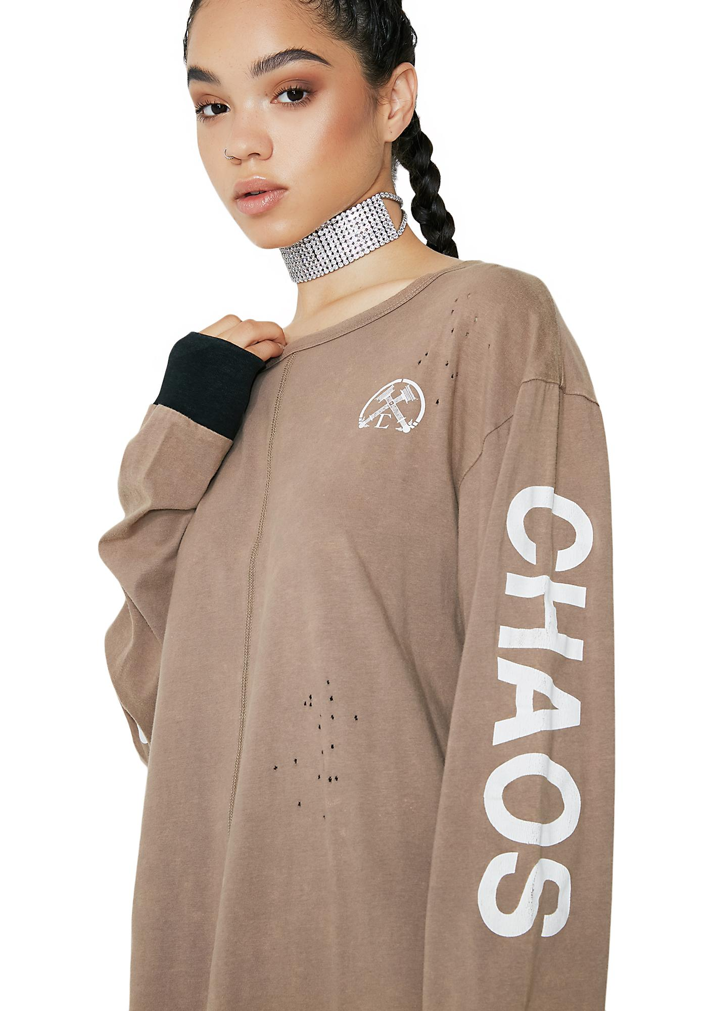 Civil Clothing Chaos Oiled Long Sleeve Tee