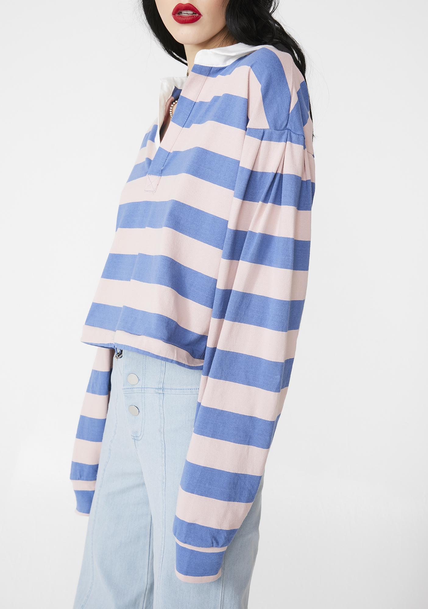 Skool Social Striped Polo