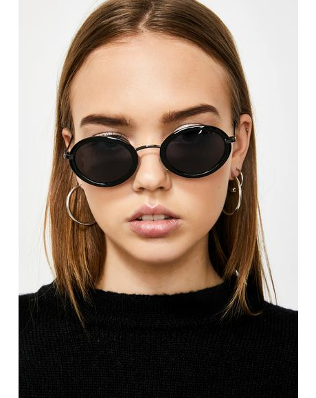 Quit Buggin Oval Sunglasses