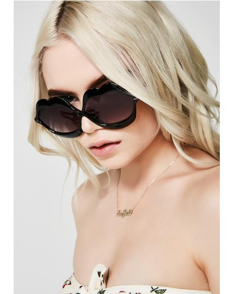 Dark Read My Lips Sunglasses