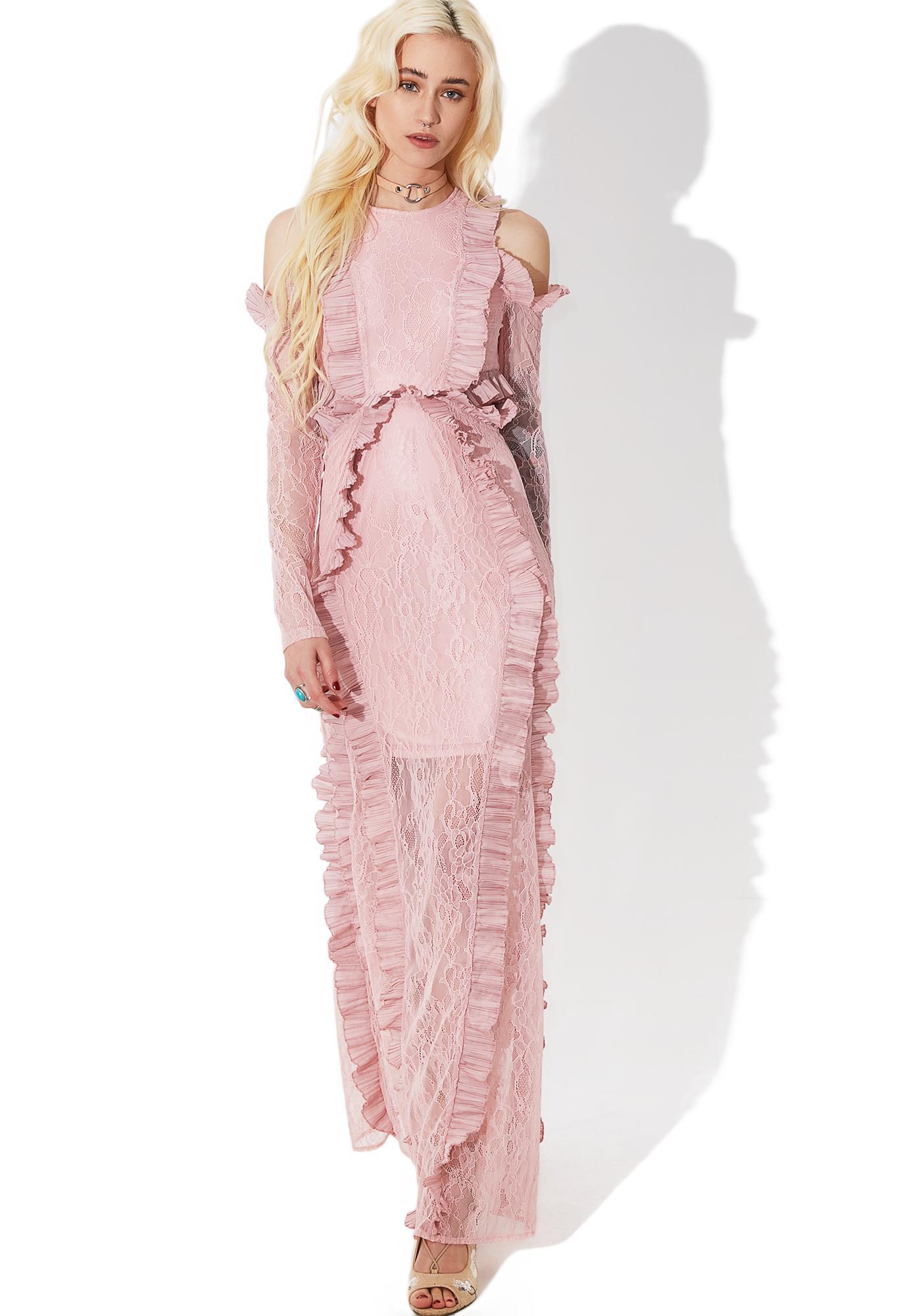 Glamorous Tribute Ruffled Maxi Dress