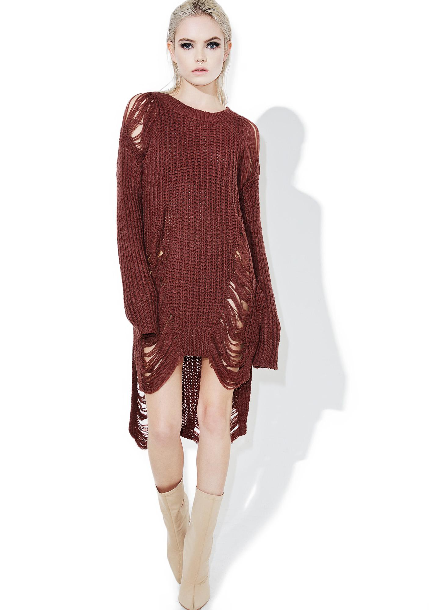 Coagulate Shredded Sweater
