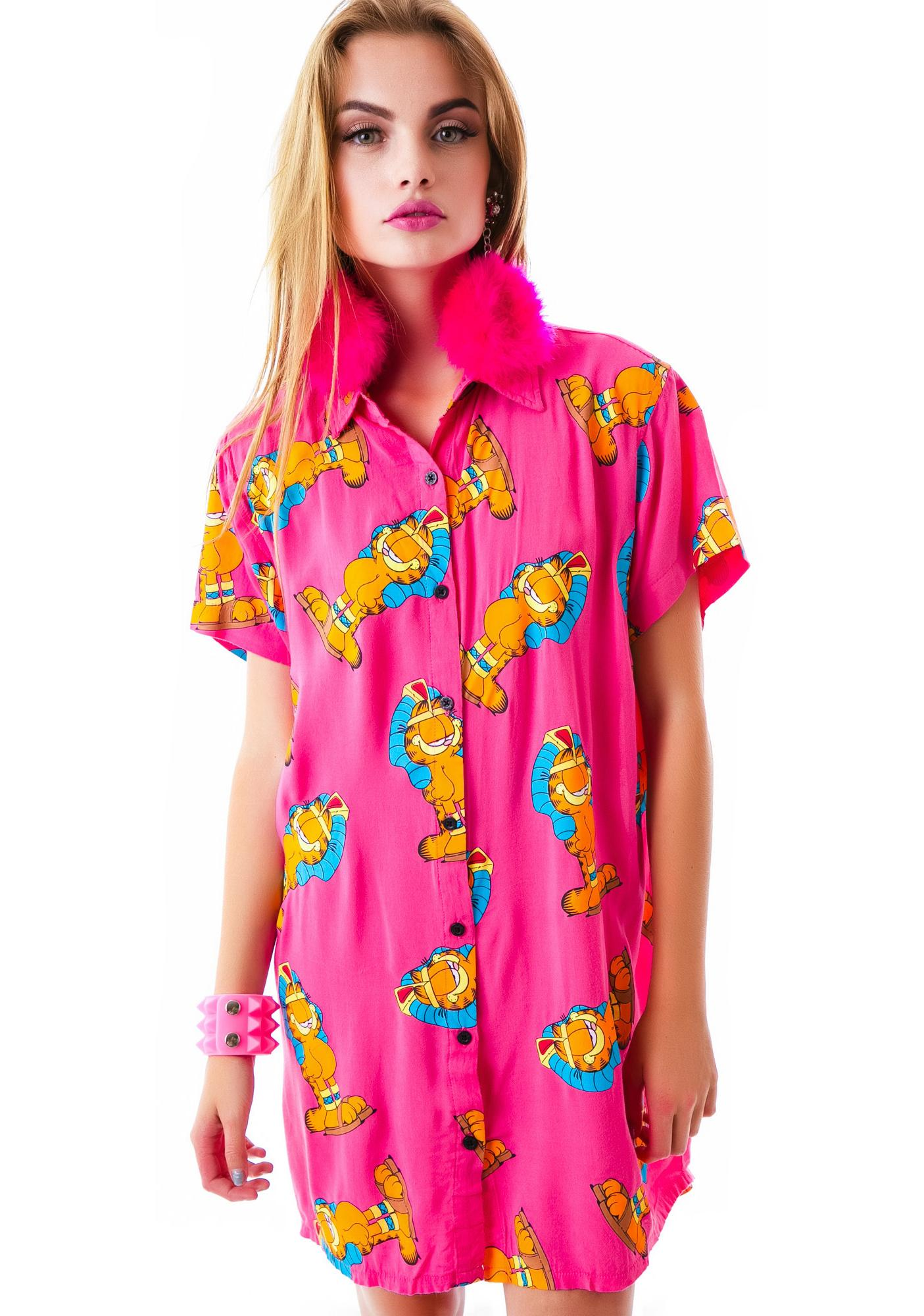 Lazy Oaf x Garfield Pharoah Enough Shirt