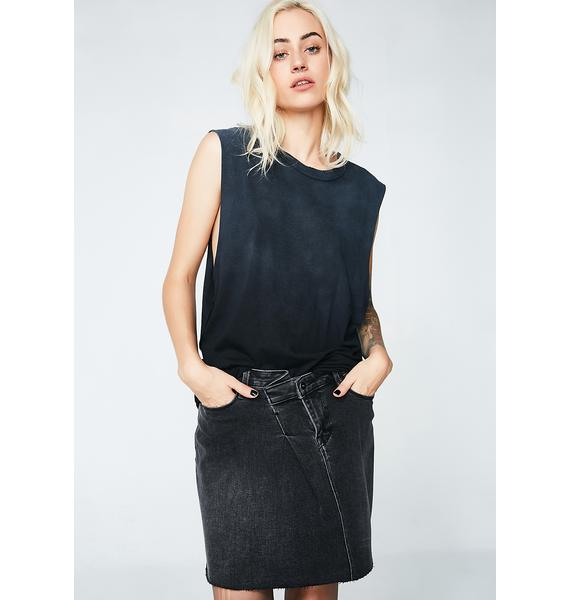 Cult of Individuality Mid Length Stretch Skirt
