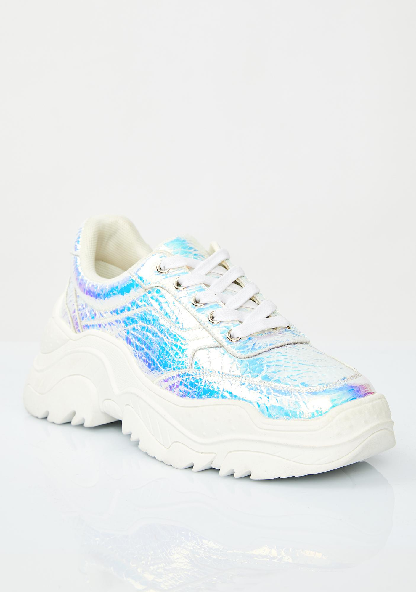 Current Mood Fifth Dimension Hologram Sneakers
