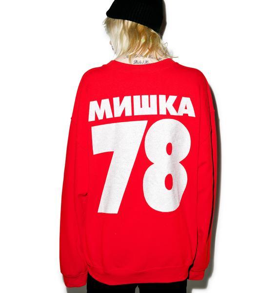 Mishka Bootleg Horns Crew Neck Sweater