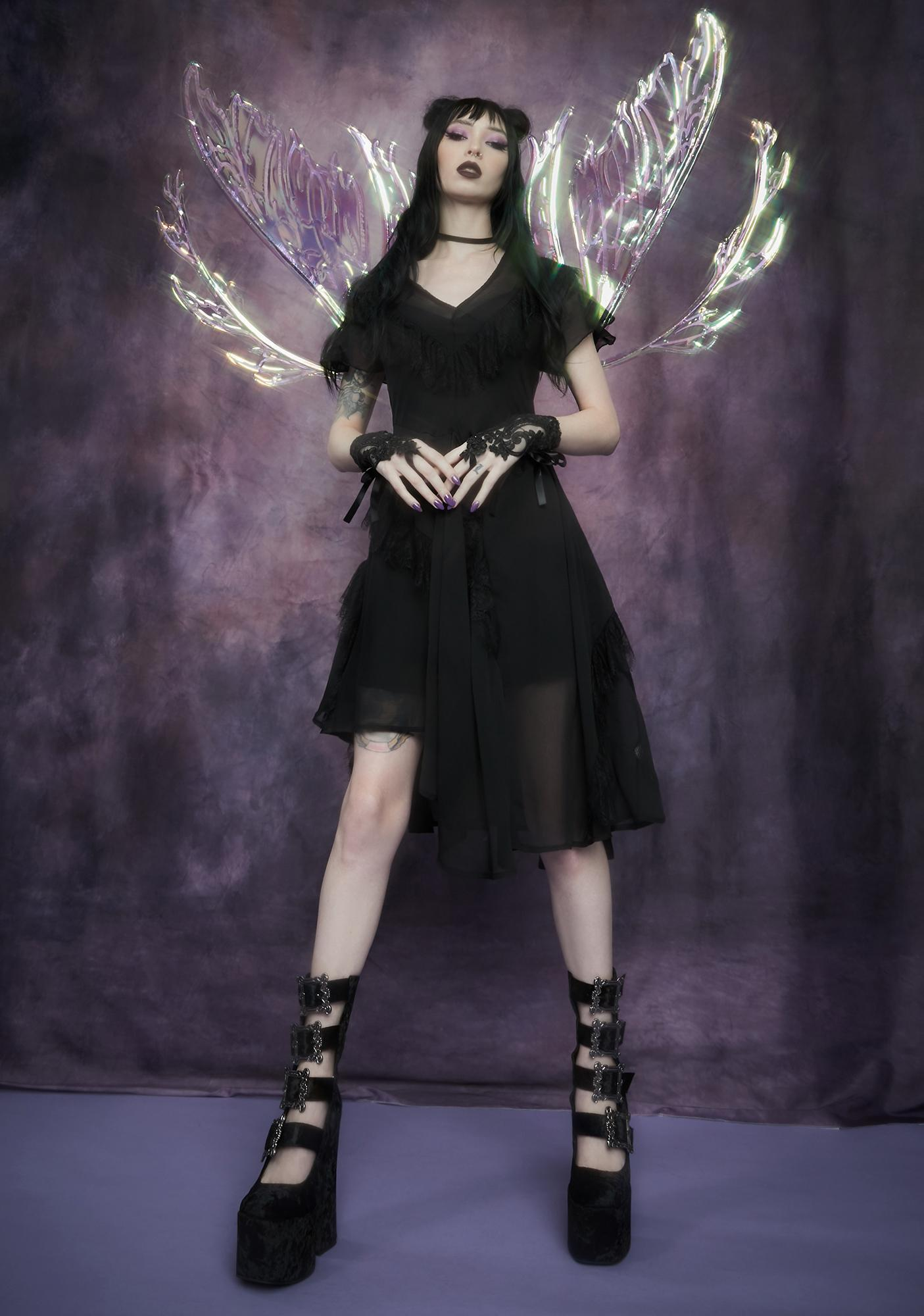 Widow Forgotten Castle Chiffon Midi Dress