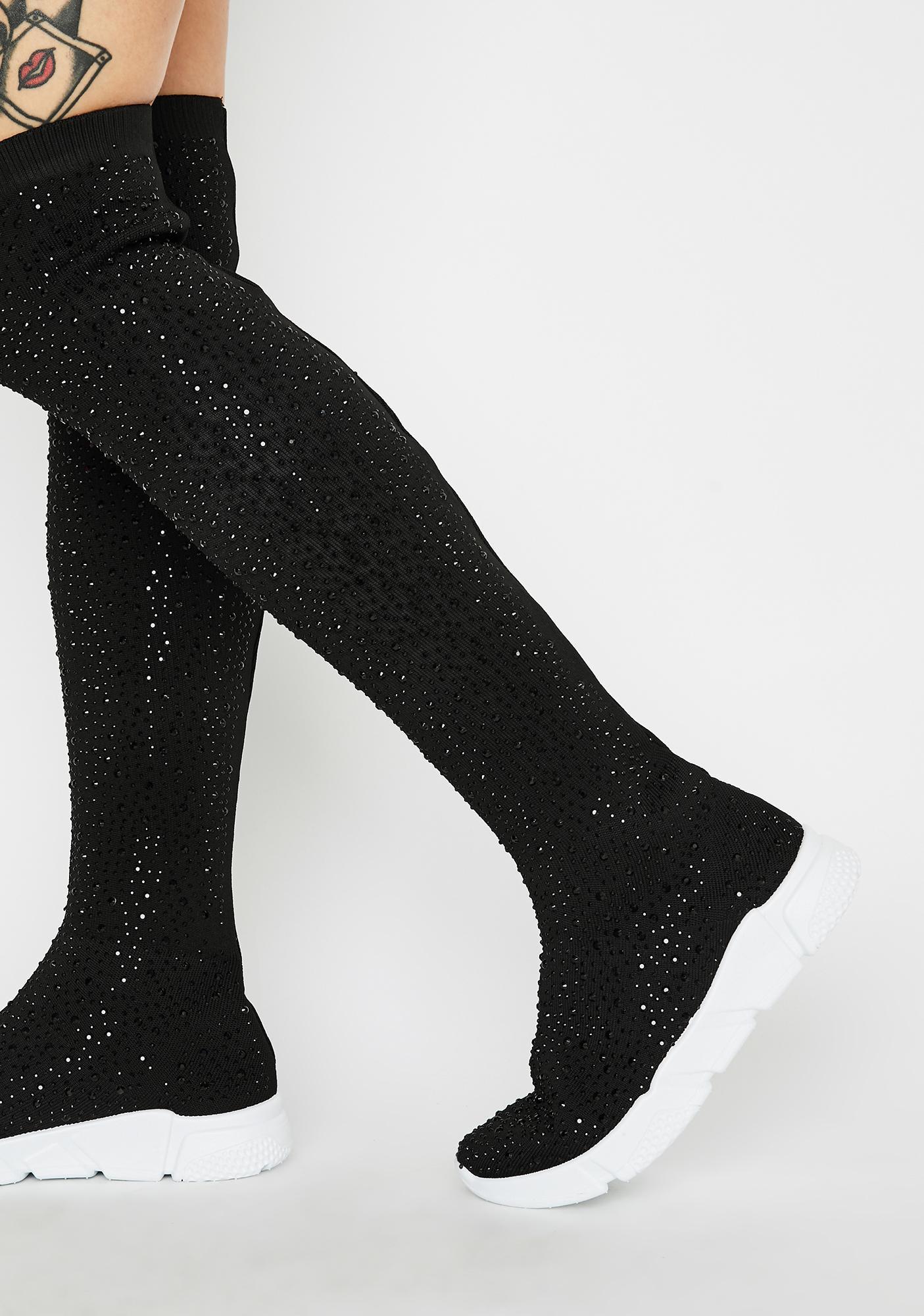 Rhinestone Sock Sneakers | Dolls Kill