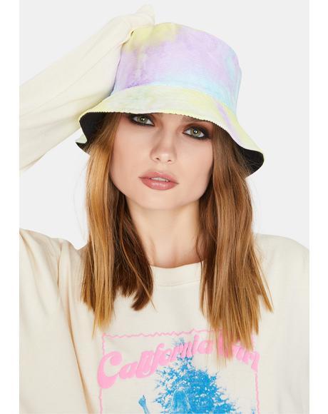 Back In The Groove Reversible Tie Dye Bucket Hat