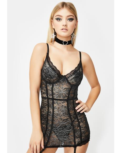 Feelin' Frosty Lace Chemise