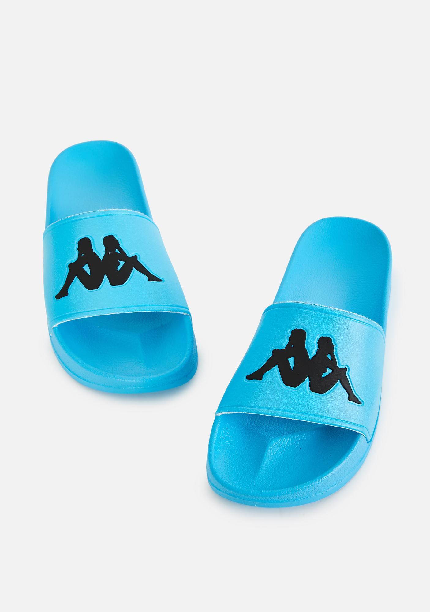 Kappa Teal Blue Authentic Adam 2 Slide Sandals