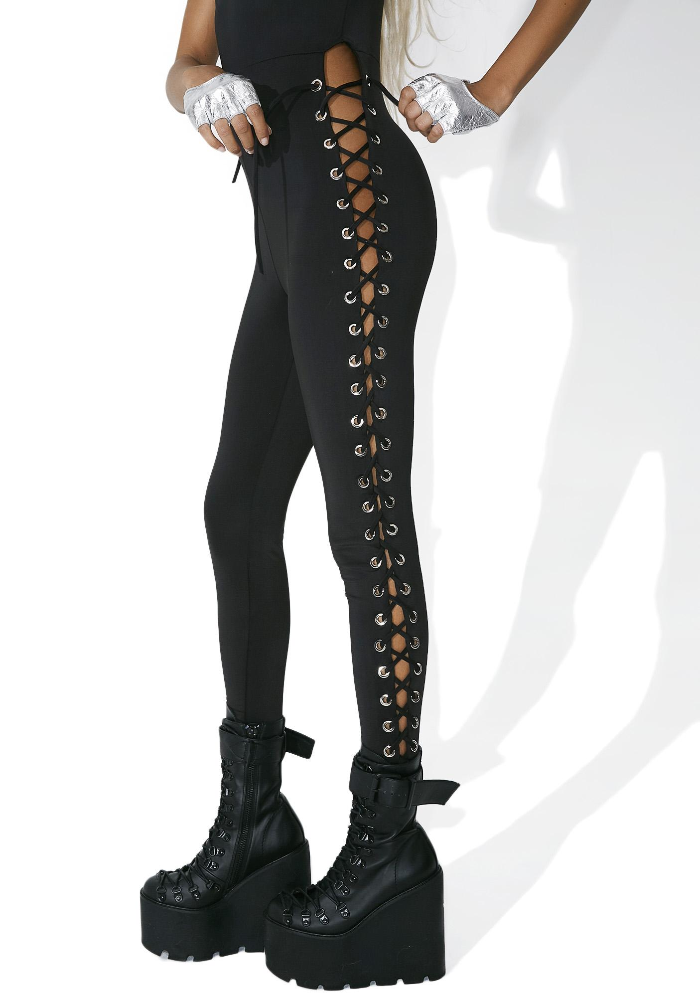 Renegade Lace-Up Catsuit