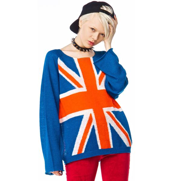 Wildfox Couture Save the Queen Penny Lane Sweater