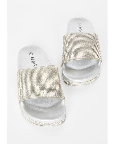 Icy Get Around Rhinestone Slides
