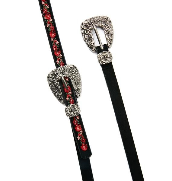 Bee Charmer Double Buckle Belt
