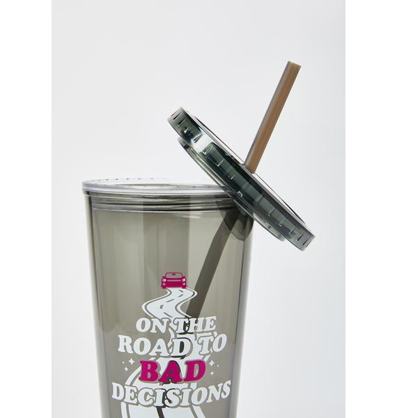 Femfetti Road to Bad Decisions Tumbler