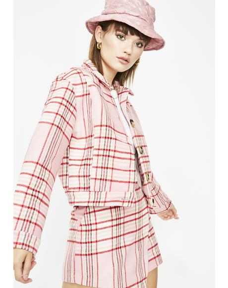 Miss Rumor Has It Plaid Jacket