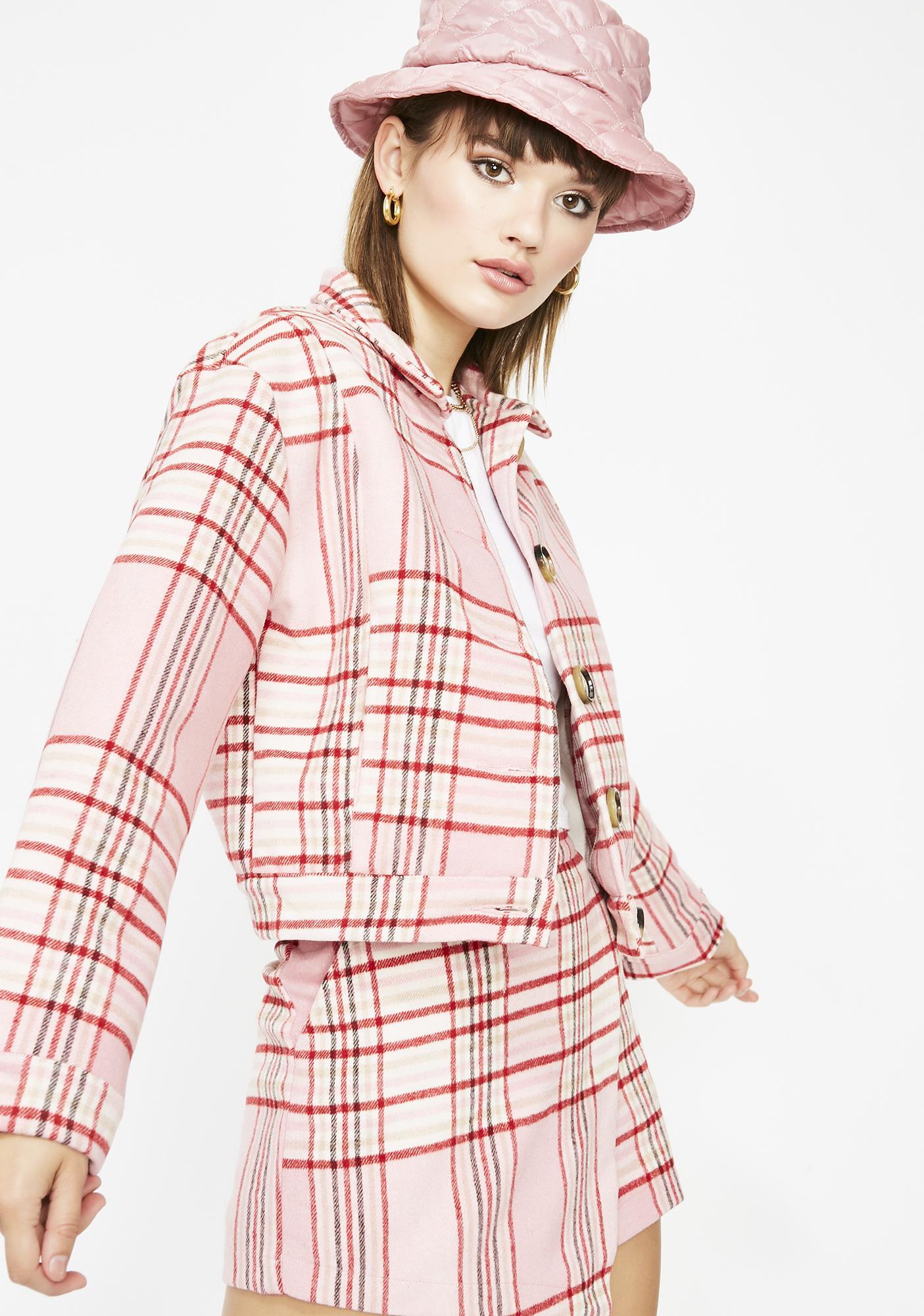 175d2db0d55 Miss Rumor Has It Plaid Jacket
