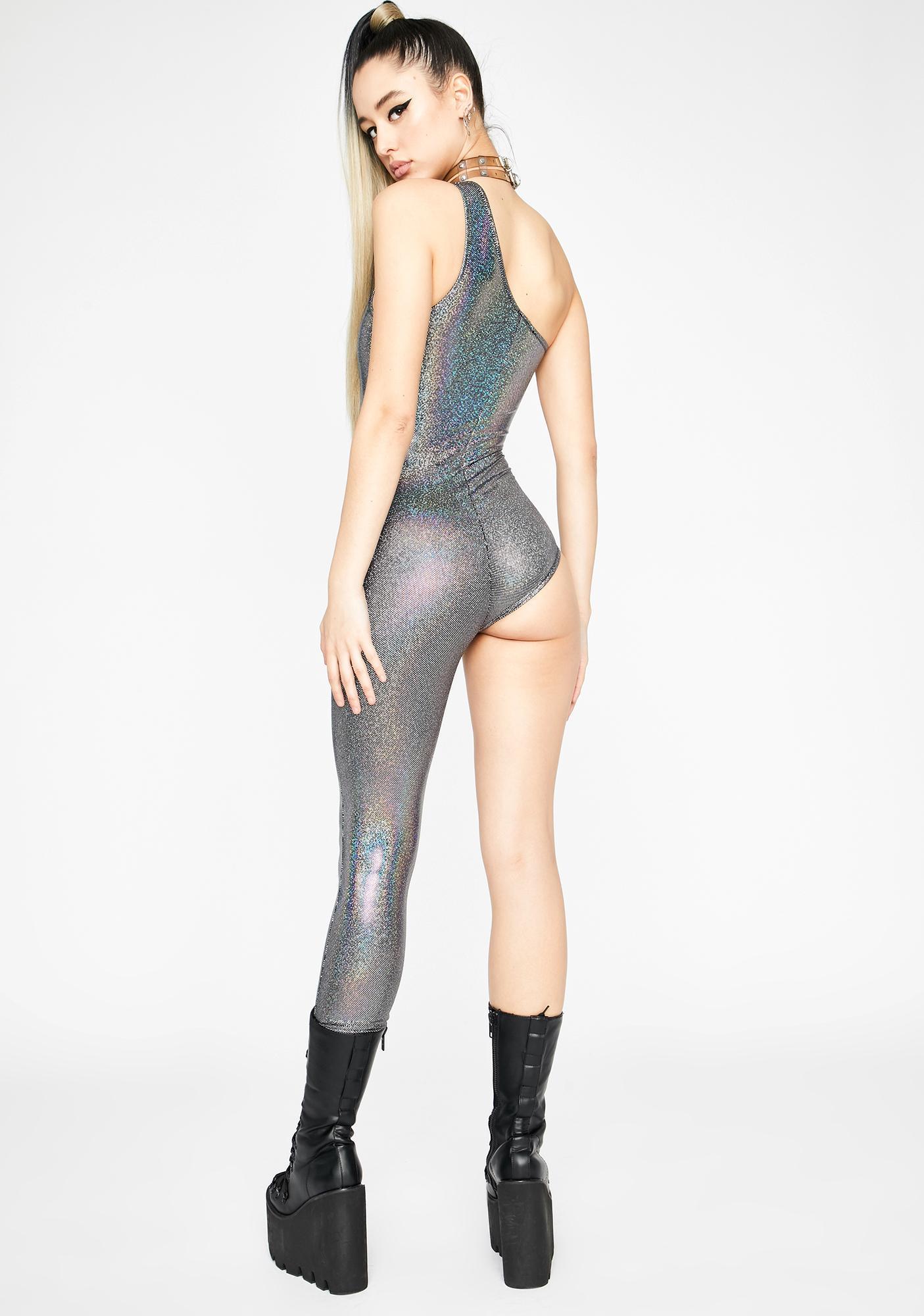 Chromatic Shadow Sleuth Asymmetrical Jumpsuit