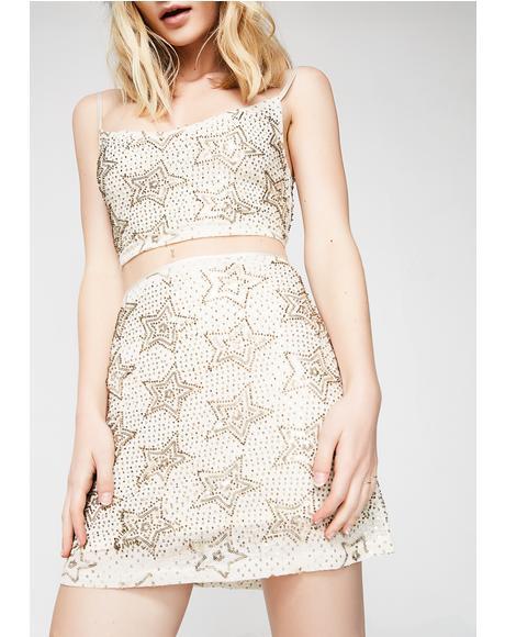 Star Worship Mini Skirt