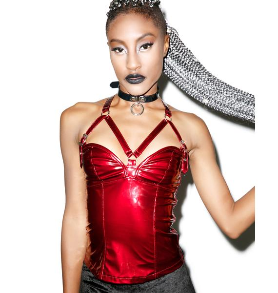 Lip Service Vinyl Vixen Harness Top