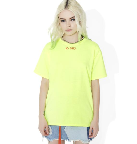 x-Girl Hand Embroidery Short Sleeve Tee