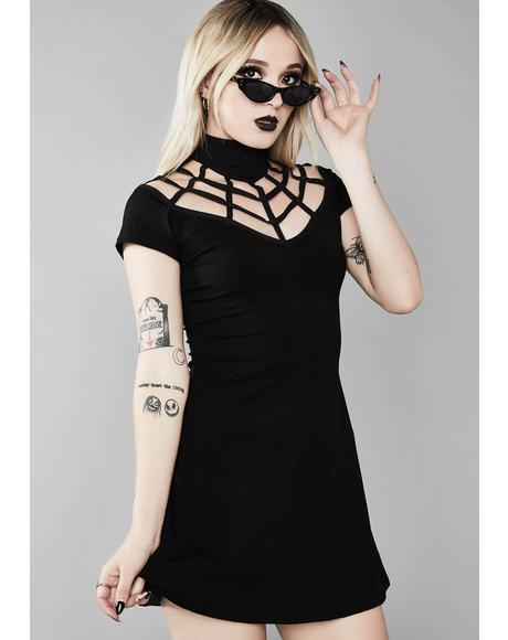 Dark Web A-line Dress