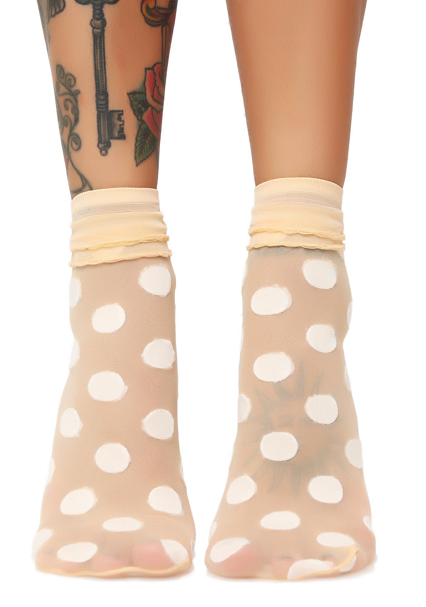Spotted Ya Sheer Socks