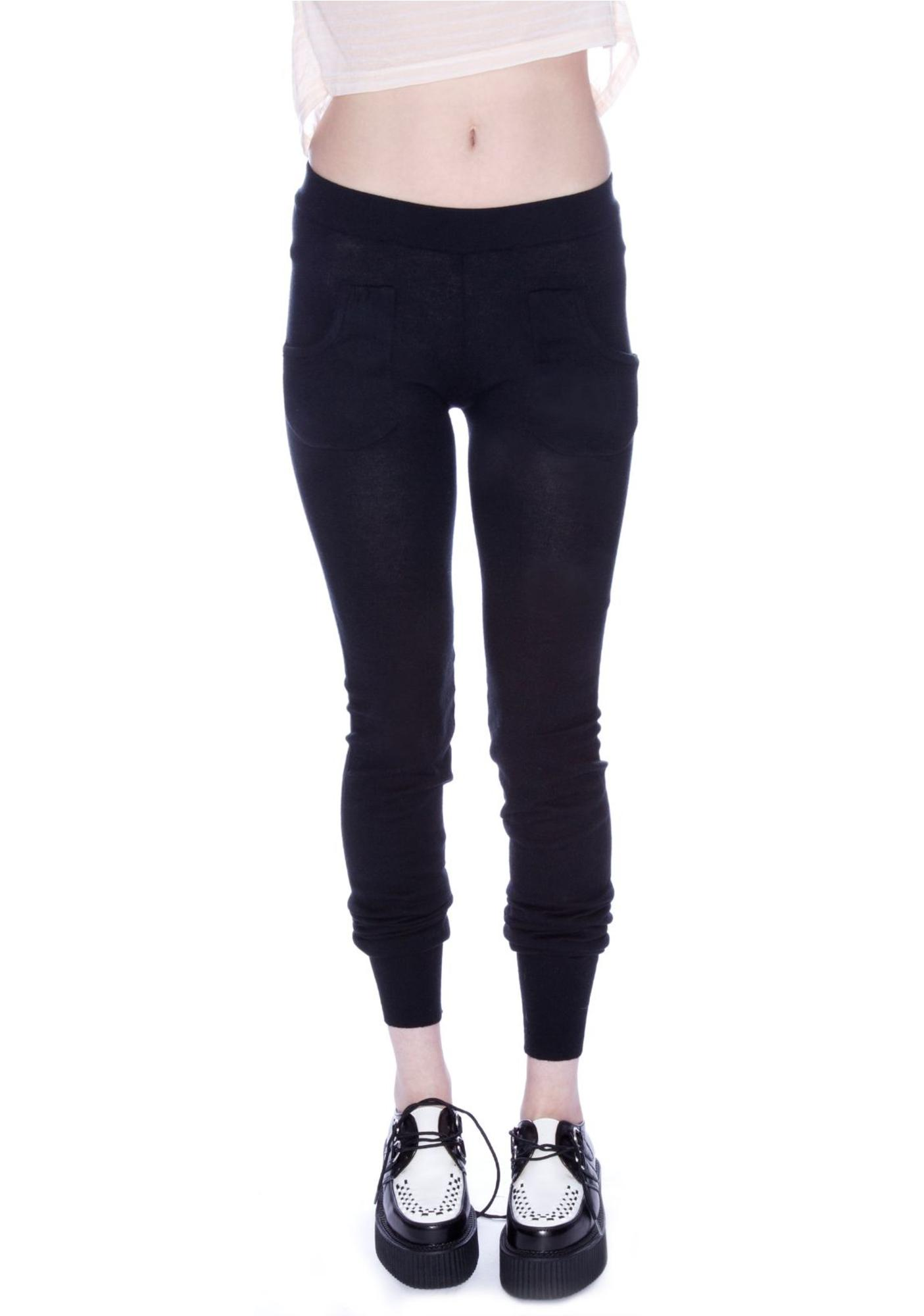 Plush Sweater Pocket Leggings
