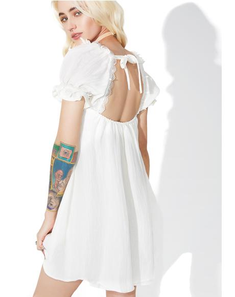 Crema Babydoll Dress