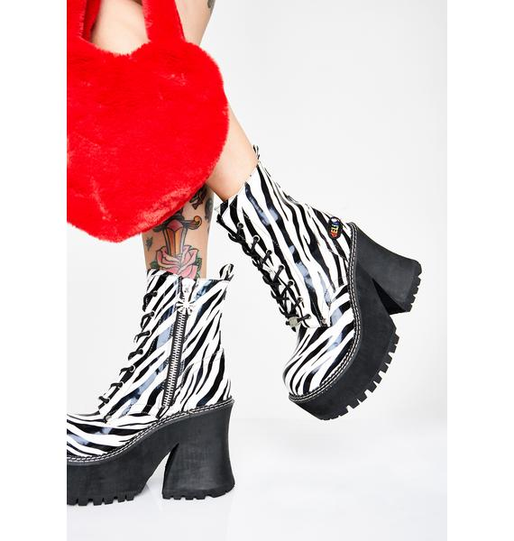 dELiA*s by Dolls Kill Wild Animal Behavior Platform Boots