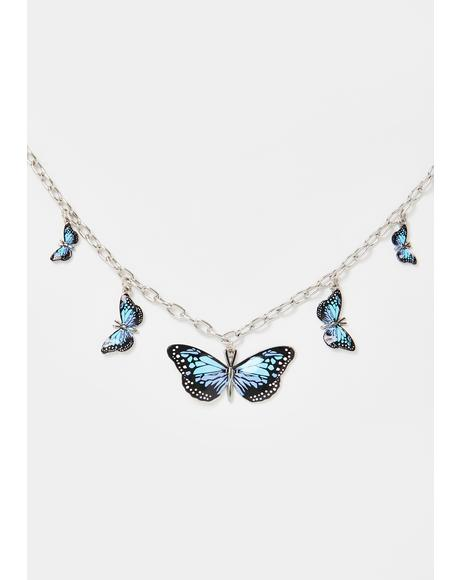 Ur So Meta Butterfly Choker