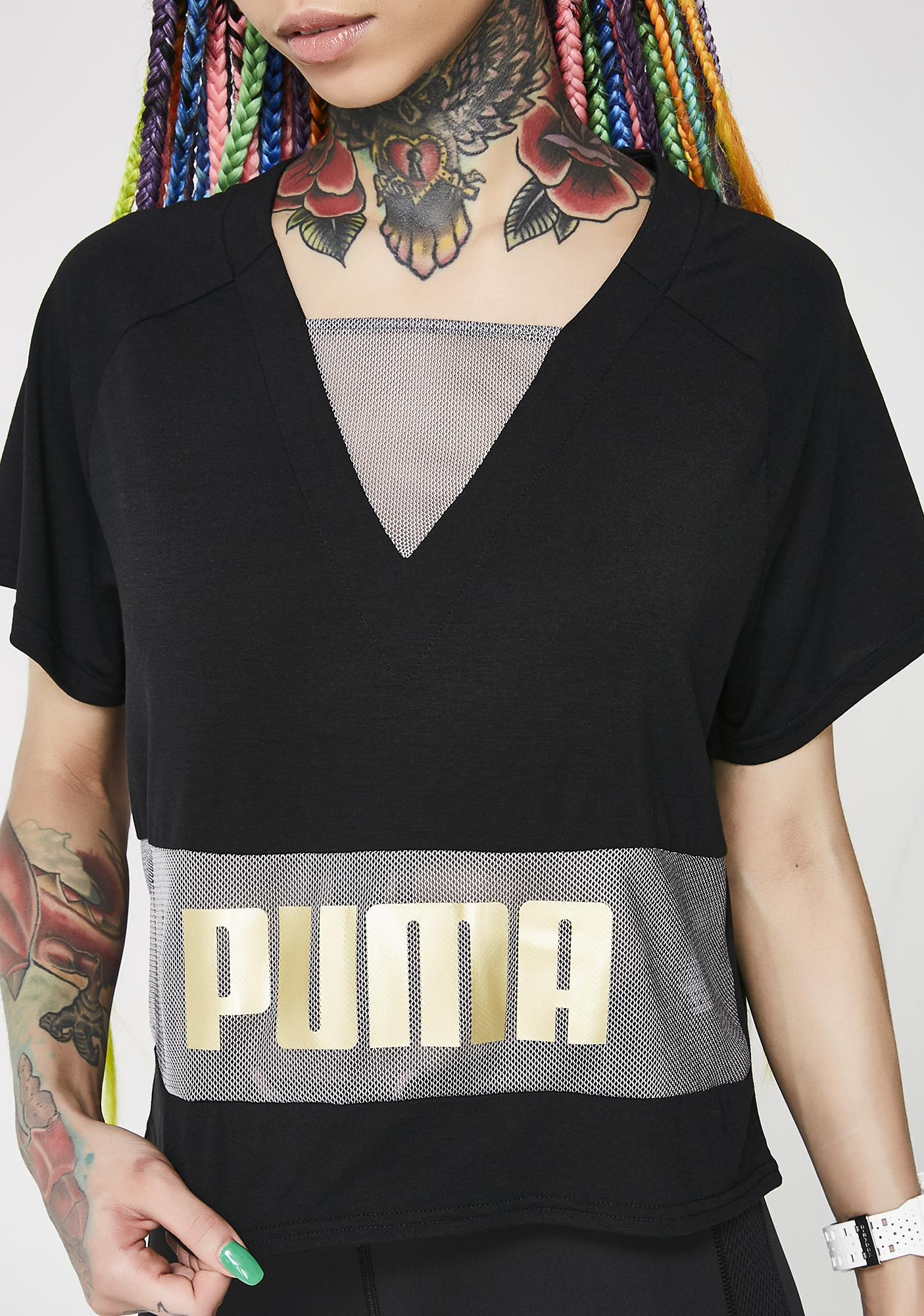 PUMA Mesh Layering Tee