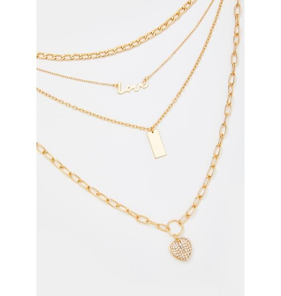 Live Laugh Love Layered Necklace