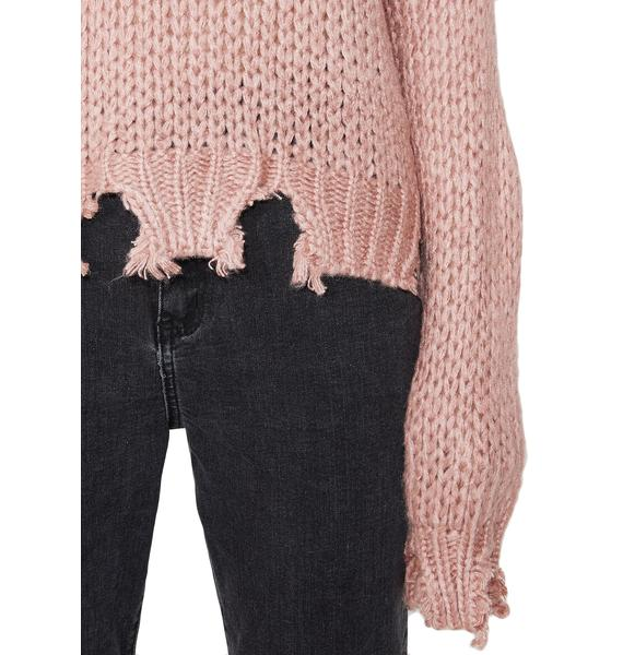 Ripped Apart Distressed Sweater