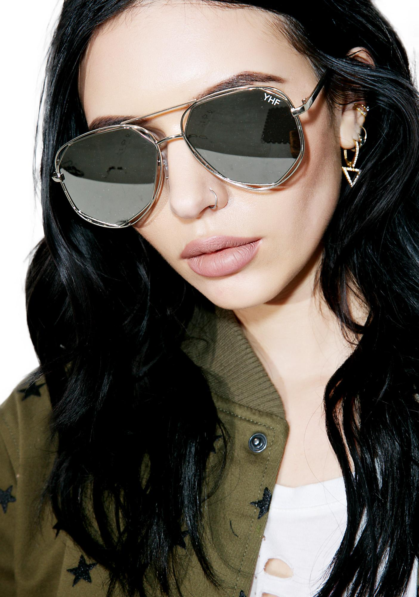 YHF Maddie Silver Sunglasses