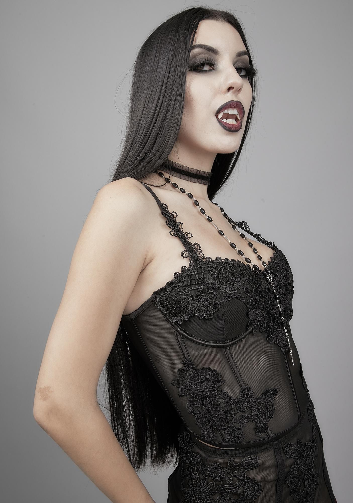 Widow Deadly Serious Lace Bustier