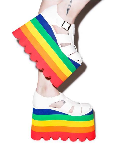 Double Rainbow Skylar Sandals