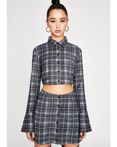 Back In Session Plaid Crop Top