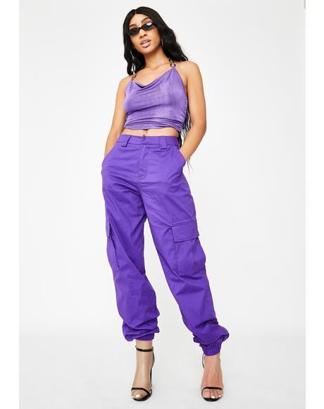 Purple Antares Cargo Pants