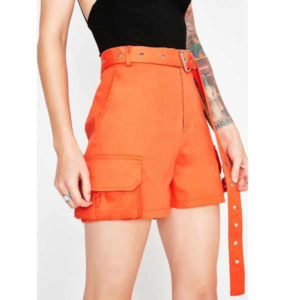 Poppy Up A Notch Belted Shorts