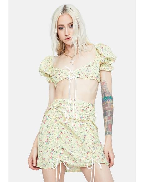 Meadow Bliss Floral Ribbon Tie Top Set