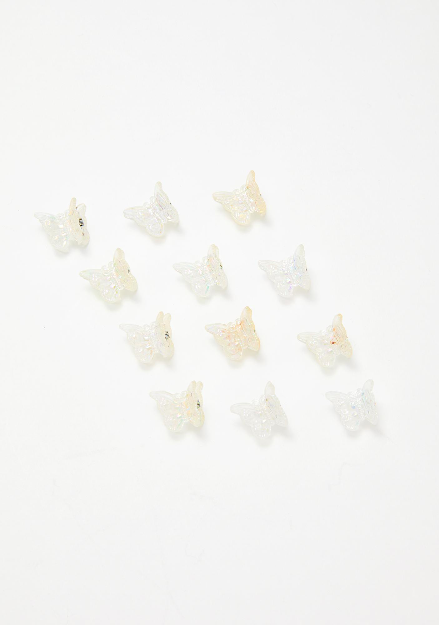 The Cobra Snake Crystal Clear Butterfly Clip Set
